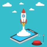 Concetto della giovane impresa per sviluppo mobile di app Fotografie Stock Libere da Diritti