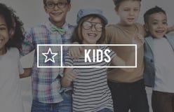 Concetto della gioventù di adolescenza innocente dei bambini giovane Fotografia Stock