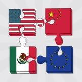 Concetto della guerra commerciale royalty illustrazione gratis