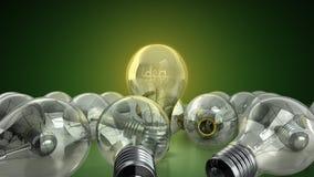 concetto della lampadina di idea con l'idea di parola dentro fondo per Immagini Stock Libere da Diritti