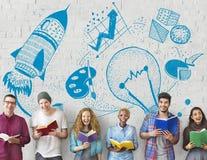 Concetto della lampadina di immaginazione di creatività di idee Immagini Stock Libere da Diritti