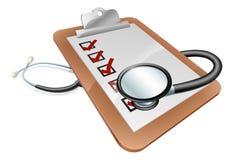 Concetto della lavagna per appunti dello stetoscopio Fotografia Stock Libera da Diritti