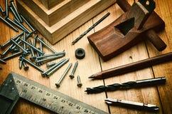 Concetto della lavorazione del legno Fotografie Stock
