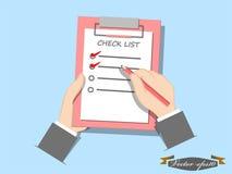 Concetto della lista di controllo Immagine Stock Libera da Diritti