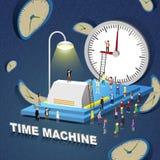Concetto della macchina del tempo Immagini Stock