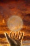 Concetto della mano curativa esoterica   Immagine Stock