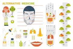 Concetto della medicina alternativa illustrazione vettoriale