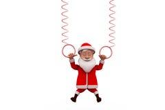 concetto della molla di 3d il Babbo Natale Fotografia Stock