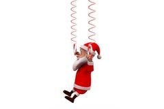concetto della molla di 3d il Babbo Natale Immagine Stock Libera da Diritti