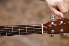 Concetto della natura della chitarra di stile di vita del musicista immagine stock libera da diritti