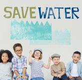 Concetto della natura di sostenibilità di conservazione dell'acqua di ecologia fotografie stock