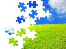 Concetto della natura - puzzle 3d Fotografia Stock Libera da Diritti