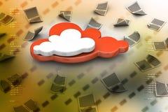 Concetto della nube Immagini Stock Libere da Diritti
