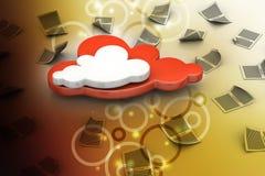 Concetto della nube Immagine Stock