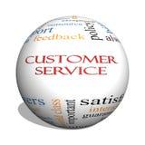 Concetto della nuvola di parola della sfera di servizio di assistenza al cliente 3D royalty illustrazione gratis