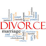 Concetto della nuvola di parola di divorzio Fotografia Stock