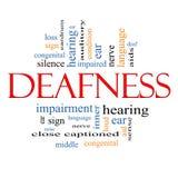 Concetto della nuvola di parola di sordità Fotografia Stock Libera da Diritti