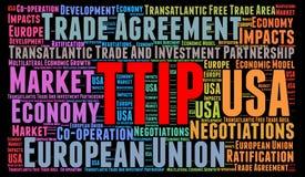 Concetto della nuvola di parola di TTIP Fotografia Stock Libera da Diritti