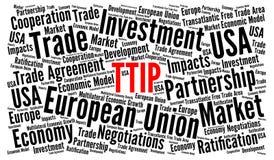 Concetto della nuvola di parola di TTIP Immagini Stock