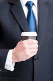 Concetto della pausa caffè di affari Fotografia Stock