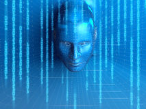 Concetto della persona virtuale Immagine Stock Libera da Diritti