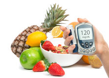 Concetto della prima colazione di perdita di peso con la frutta Fotografie Stock Libere da Diritti
