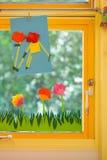 Concetto della primavera su una scuola elementare Immagini Stock Libere da Diritti