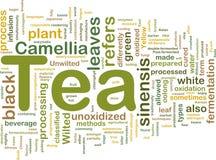 Concetto della priorità bassa della bevanda del tè Immagini Stock Libere da Diritti