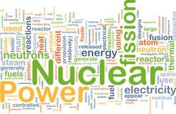 Concetto della priorità bassa di energia nucleare Fotografia Stock Libera da Diritti