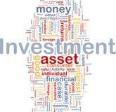Concetto della priorità bassa di investimento Fotografia Stock