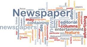 Concetto della priorità bassa di notizie del giornale Immagini Stock Libere da Diritti