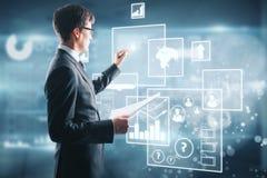 Concetto della proiezione e di tecnologia Immagine Stock Libera da Diritti