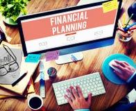 Concetto della proprietà di investimento di contabilità di pianificazione finanziaria Immagini Stock Libere da Diritti