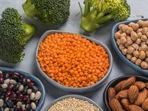 Concetto della proteina del vegano Immagini Stock Libere da Diritti