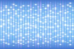Concetto della prova del DNA, fondo di delineamento genetico umano, scala di elettroforesi degli acidi nucleici, struttura del ge illustrazione vettoriale