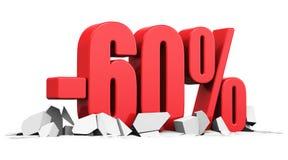 Concetto della pubblicità di sconto e di vendita Fotografia Stock