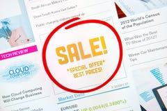Concetto della pubblicità di vendita Fotografie Stock