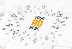 Concetto della pubblicità di Web di successo Immagini Stock Libere da Diritti