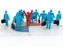 concetto della rete di affari 3d Fotografie Stock Libere da Diritti