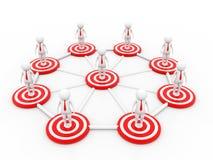 Concetto della rete di affari 3d rendono Immagini Stock