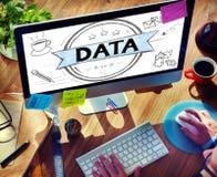 Concetto della rete di informazioni di confronto di analisi dei dati di analisi dei dati fotografia stock