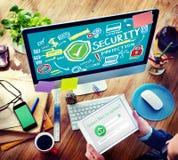 Concetto della rete di segretezza di protezione dello schermo di sicurezza Fotografia Stock
