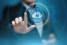 Concetto della rete di stoccaggio di Internet di tecnologia di computazione della nuvola Fotografia Stock Libera da Diritti