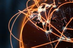 Concetto della rete globale - Europa Immagini Stock Libere da Diritti