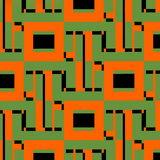 Concetto della rete Illustrazione astratta di web Modello di tecnologia Elementi di progettazione geometrica di Digital Rete del  Fotografia Stock Libera da Diritti