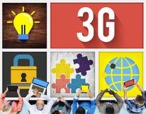 concetto della rete internet di tecnologia del collegamento 3G Immagini Stock