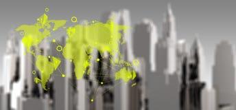 Concetto della rete sociale di commercio Fotografia Stock