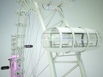 Concetto della ruota di ferris della bicicletta Immagine Stock