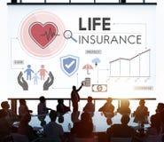Concetto della salvaguardia del beneficiario di protezione di assicurazione sulla vita fotografia stock libera da diritti