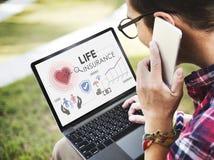 Concetto della salvaguardia del beneficiario di protezione di assicurazione sulla vita fotografie stock libere da diritti
